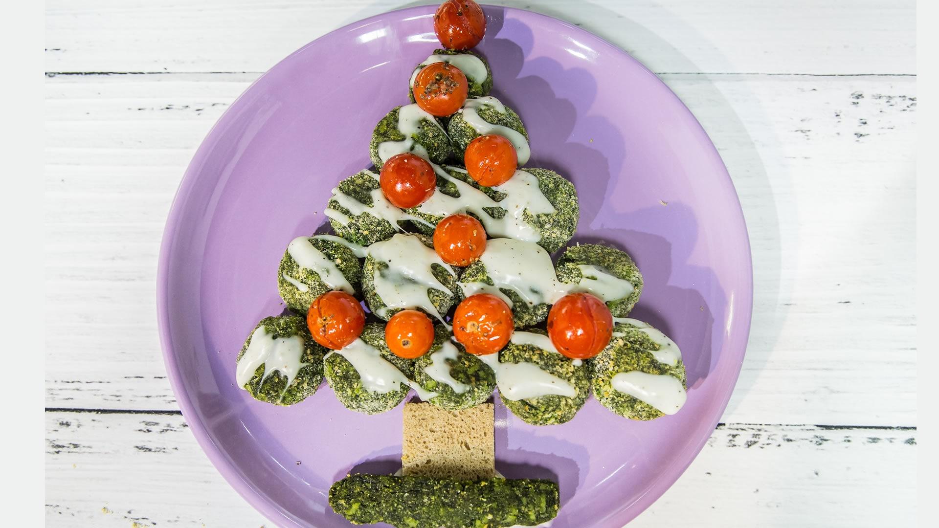Foto Polpette di Spinaci - Albero di Natale