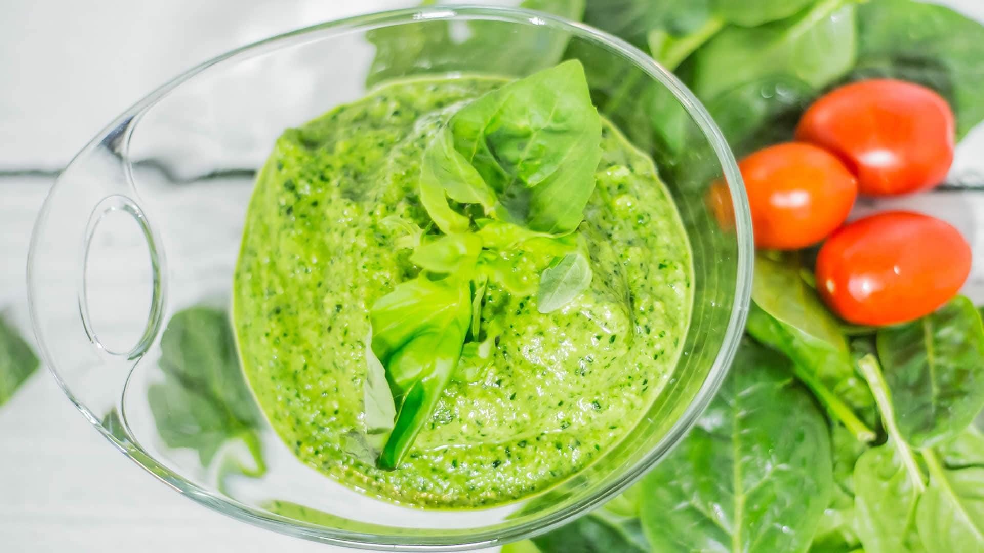 Foto Pesto di Spinaci - Salsa con Spinaci, Basilico e Avocado