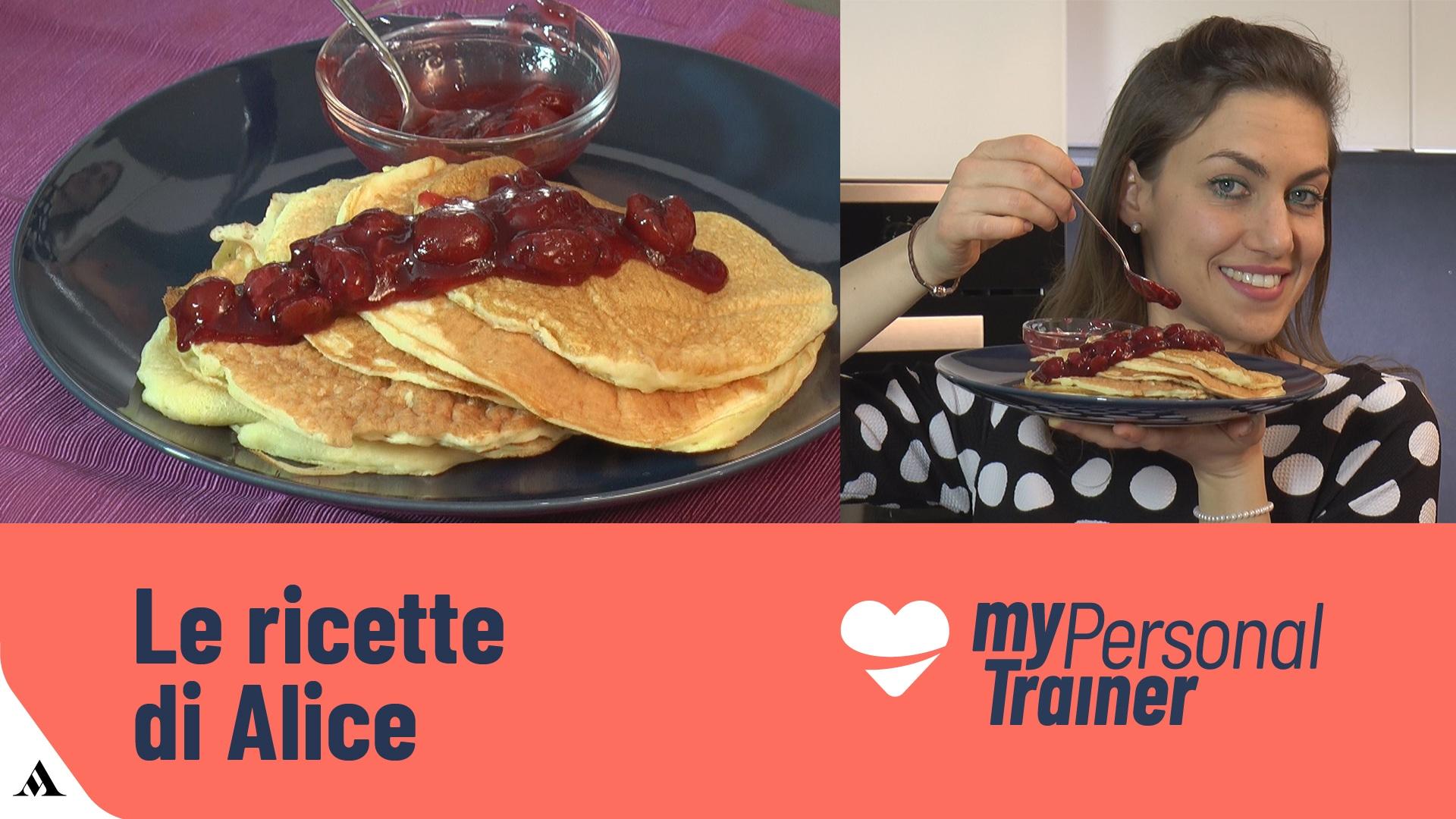 Foto Pancake Proteici con Albumi e Yogurt
