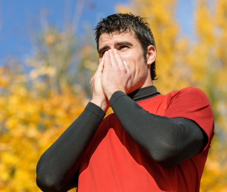 Starnuti dopo l'allenamento: quali sono le cause