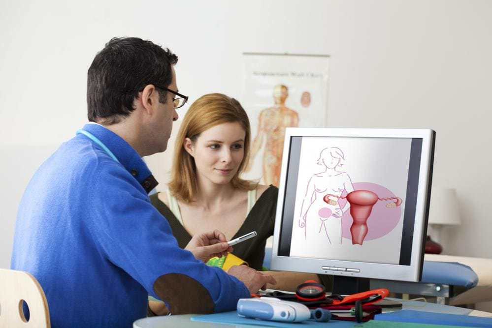 Donna dal ginecologo