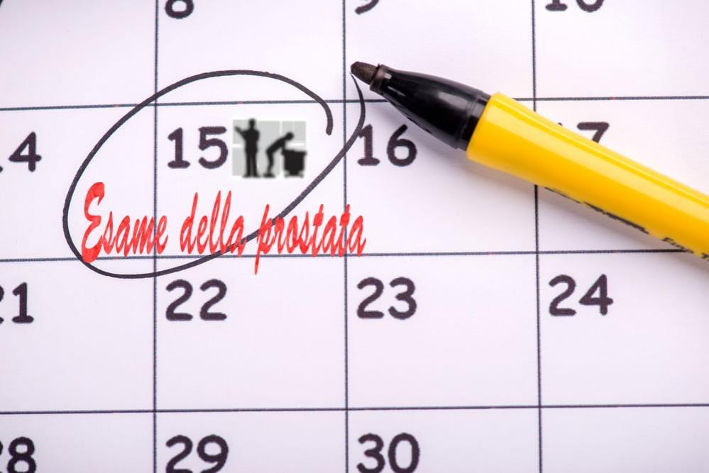 Esame della prostata segnato in calendario