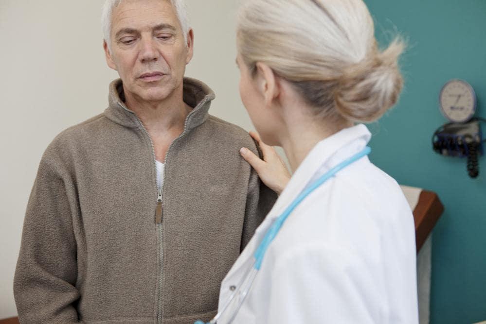 Ultracinquantenne a un consulto medico per la prostata