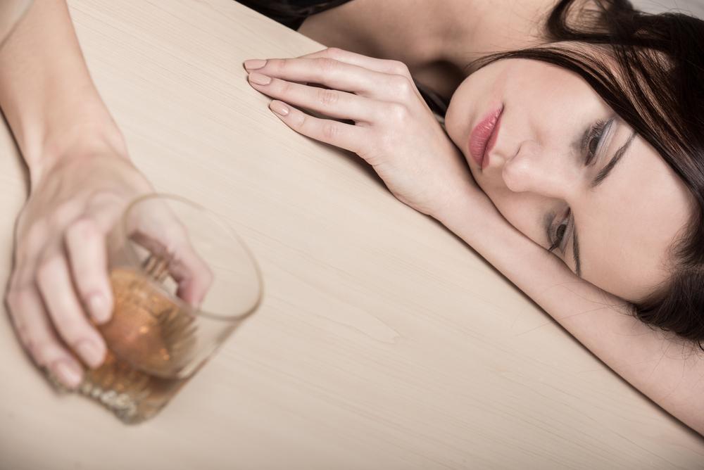 Alcolismo in una donna