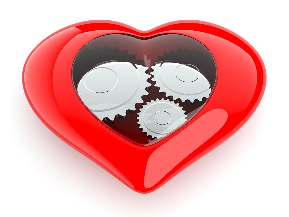 Disegno di un cuore artificiale totale