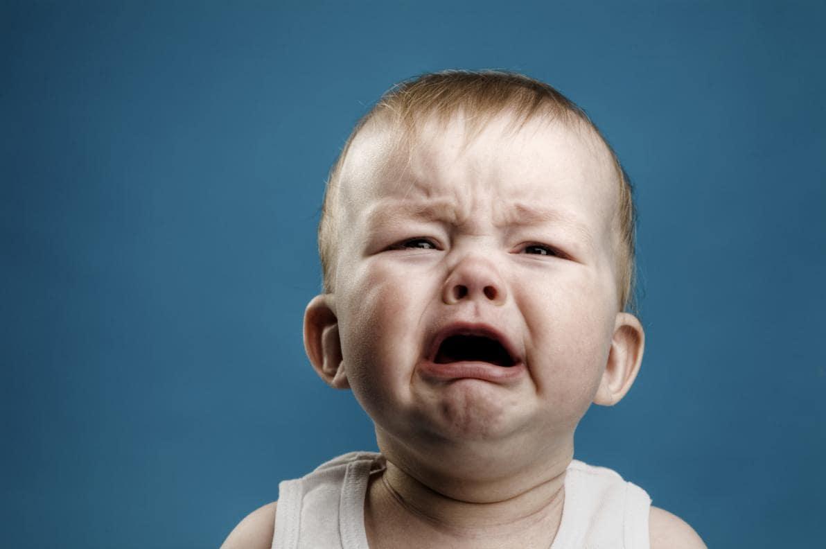 Bambino in lacrime