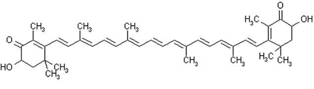 Astaxantina - Struttura Chimica