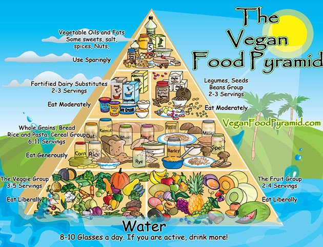 Dieta Vegana - piramide alimentare