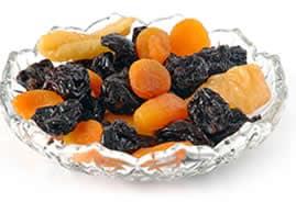 Frutta secca non oleosa disidratata