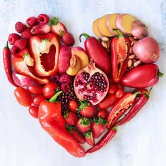 Dieta frutta e verdura rossa