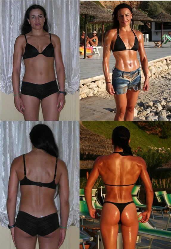 Anna Serra prima e dopo