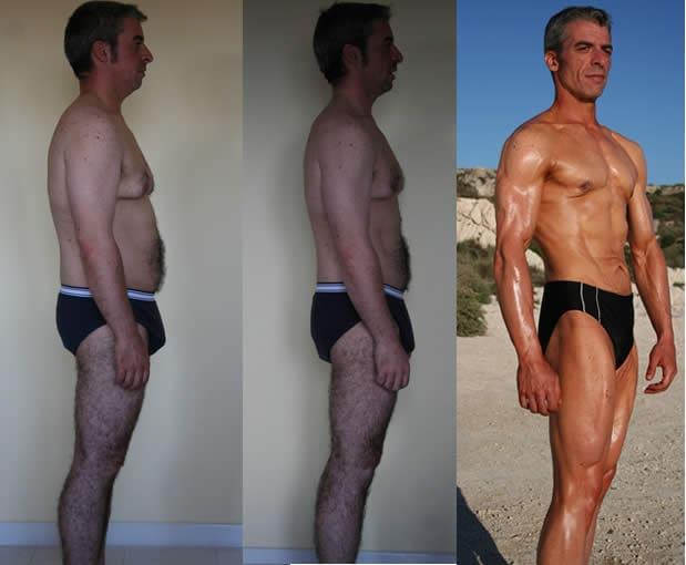 Prima e dopo laterale