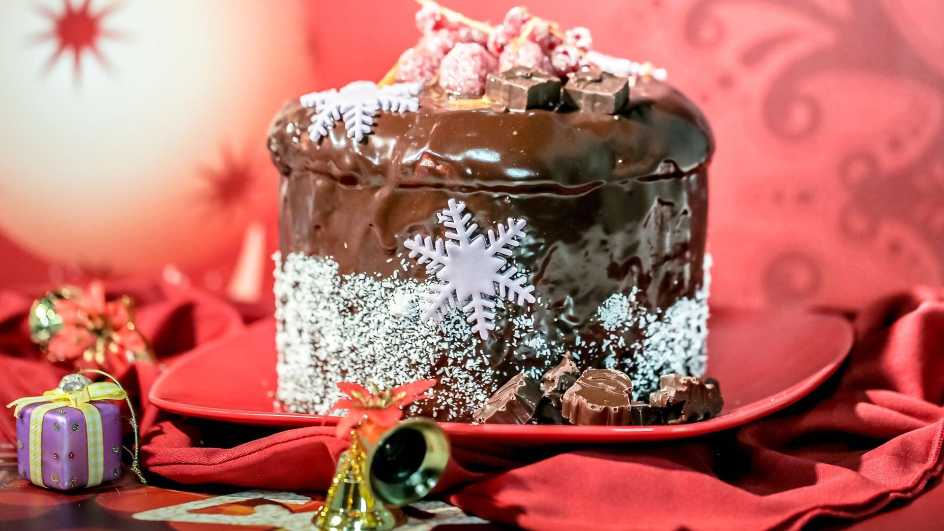 Foto Panettone Ricoperto di Cioccolato
