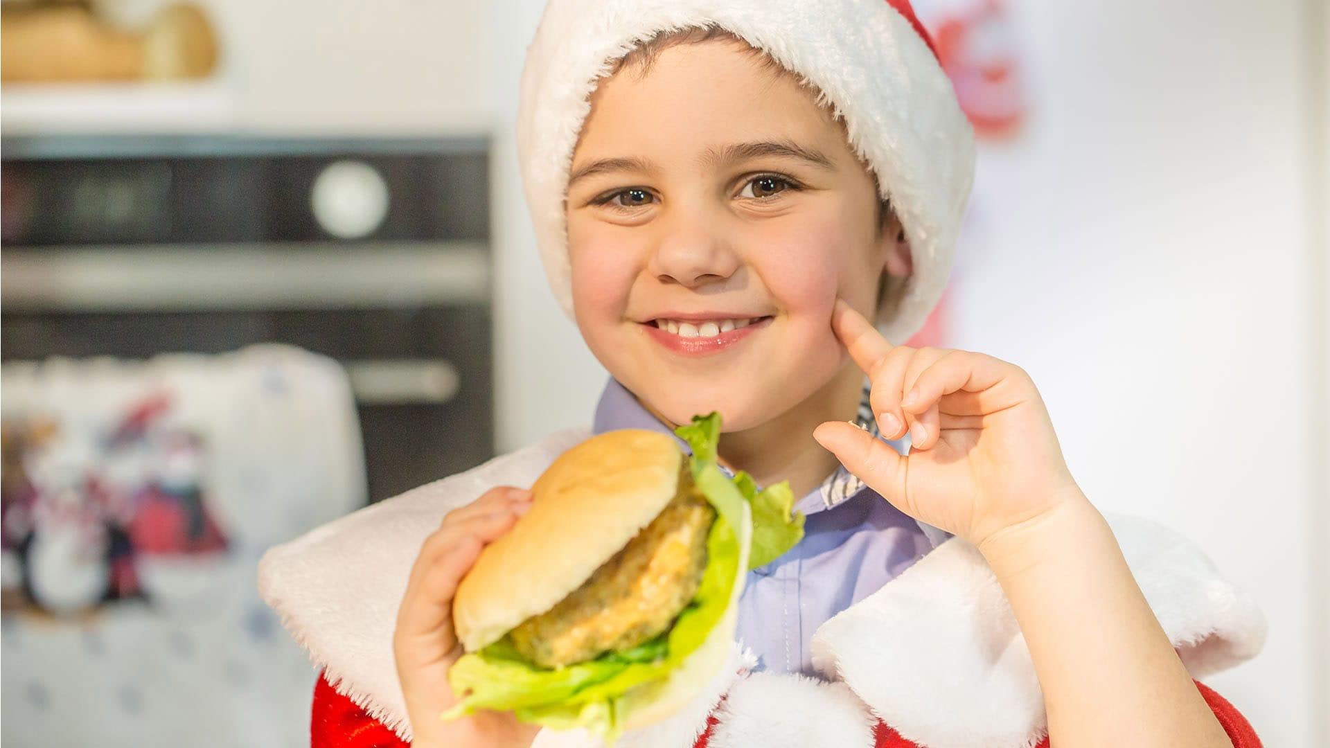 Foto Hamburger di Lenticchie