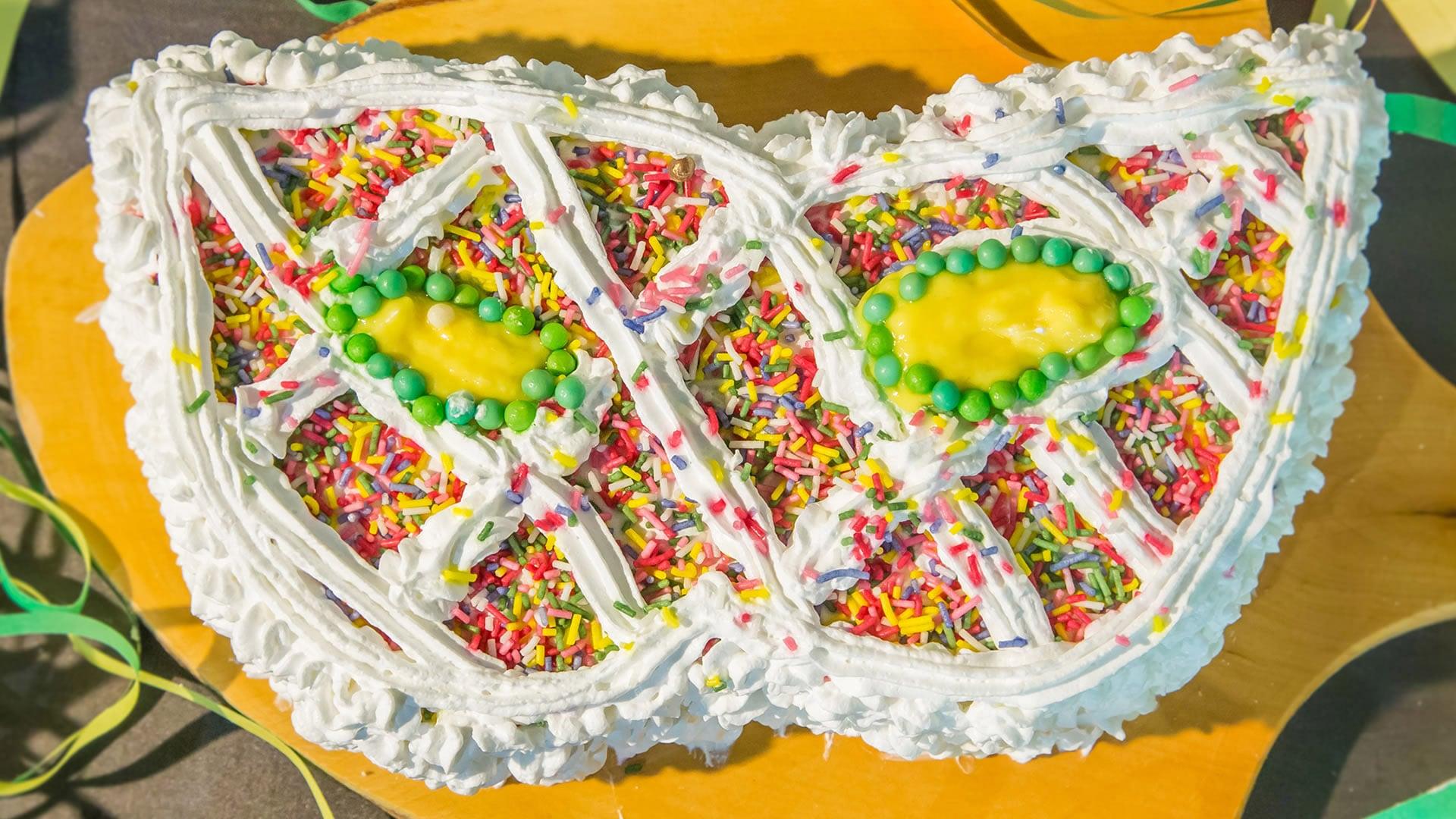 Foto Torta Maschera di Arlecchino per Carnevale