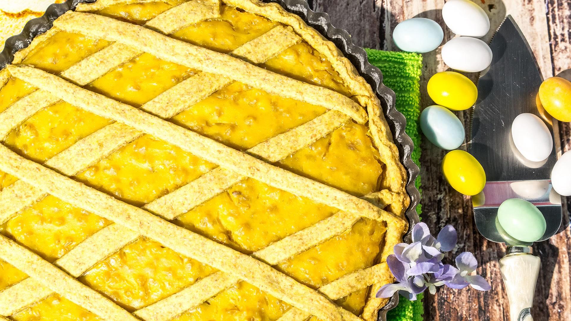 Foto Pastiera Vegana - Crostata Pasquale Senza Burro, Latte e Uova