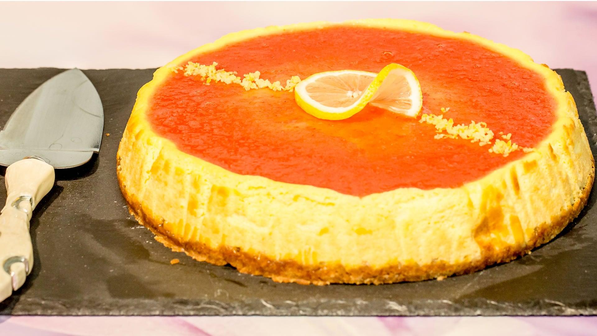 Foto Cheesecake al Limone (in forno) - Torta per i 100.000 iscritti