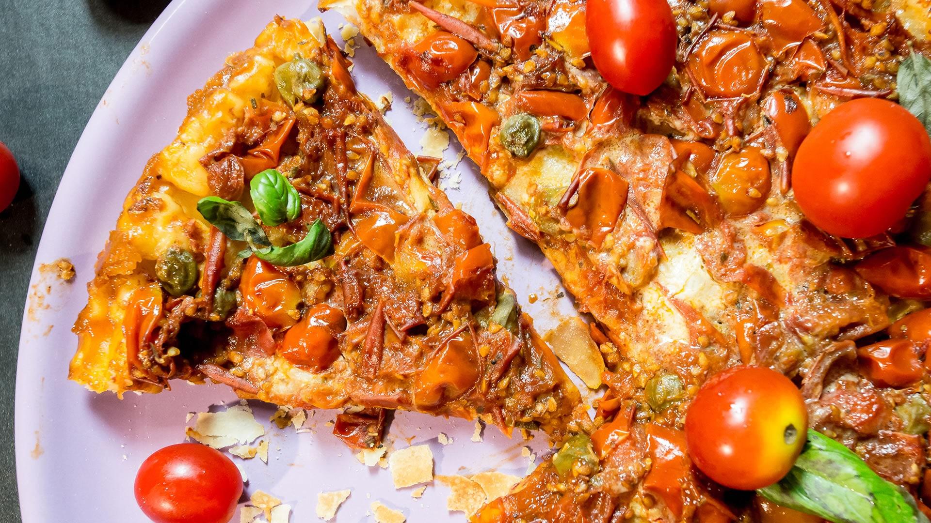 Foto Torta Salata Rovesciata con Pasta Fillo - Tarte Tatin di Pomodorini