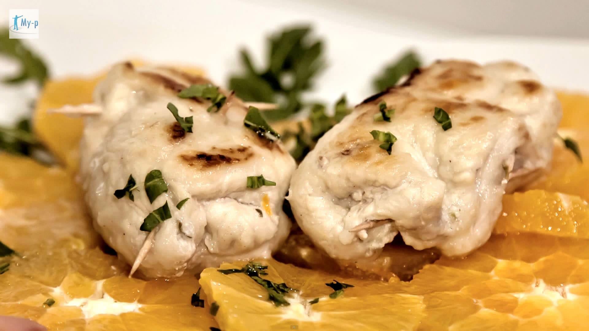 Foto Involtino leggero di pollo in salsa di ricotta
