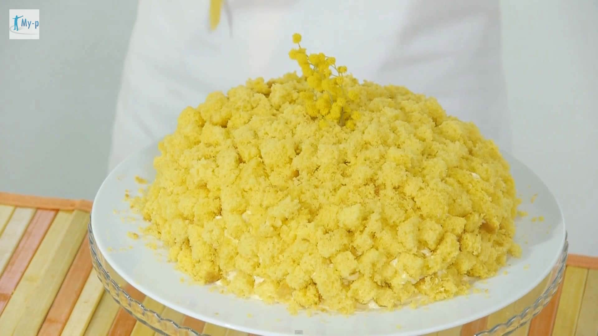 Foto Torta mimosa alle fragole