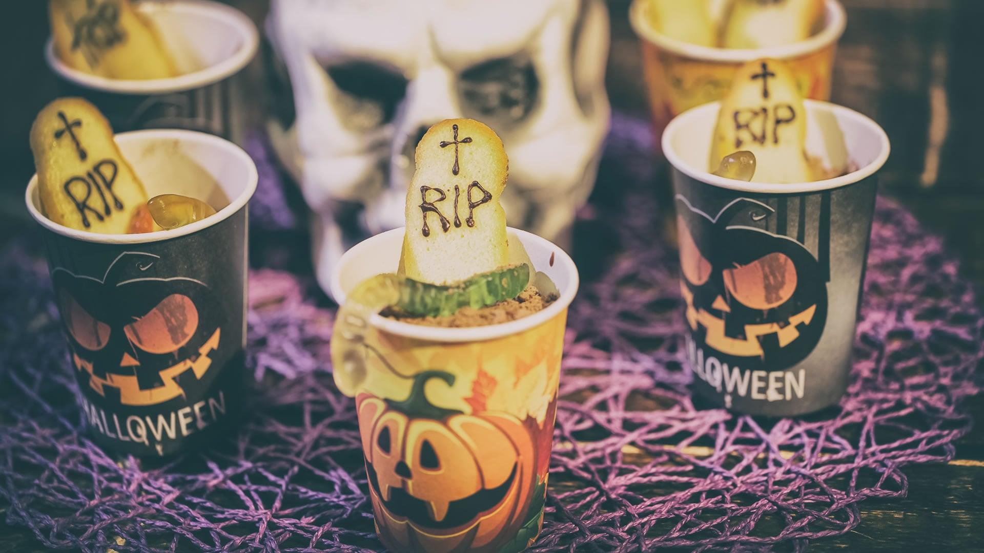 Foto Budino Cioccolato e Pere per Halloween