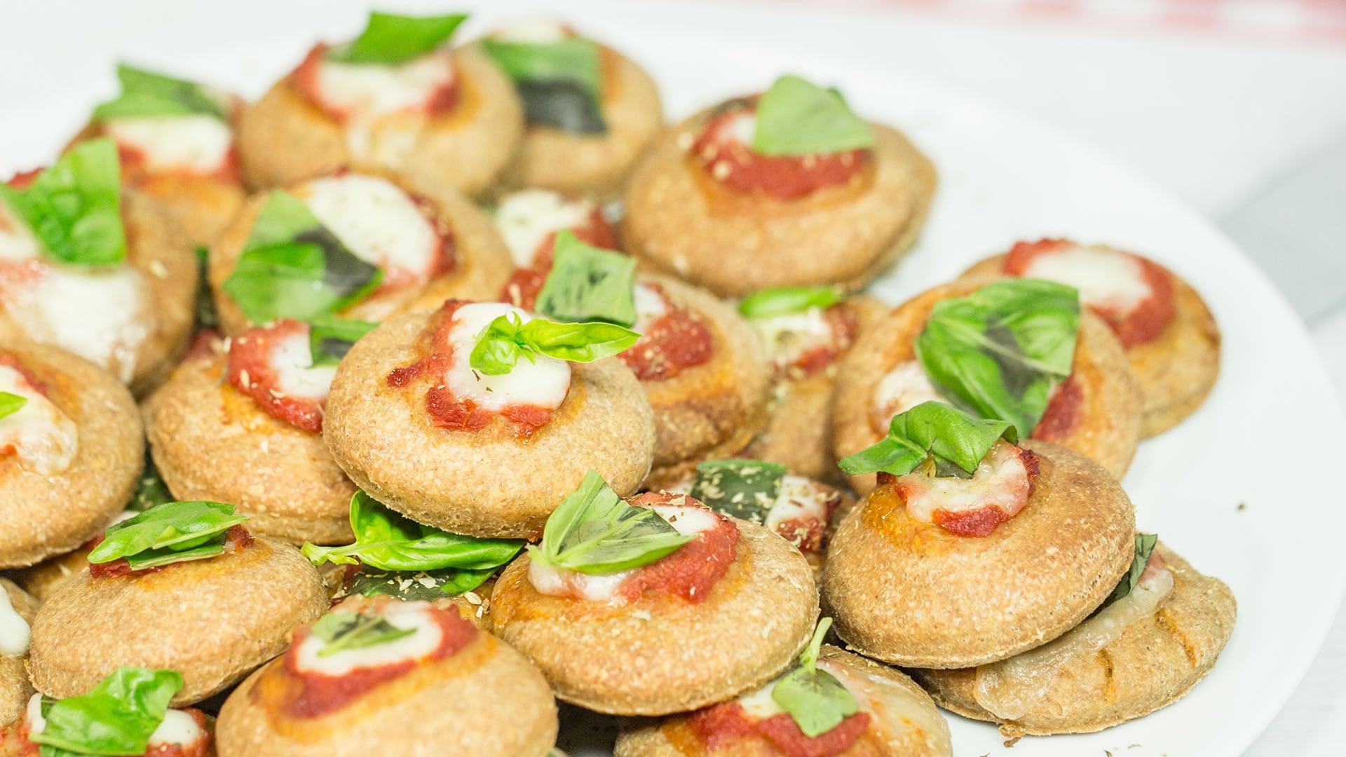Foto Pizzette Integrali al Latte a Lunga Lievitazione