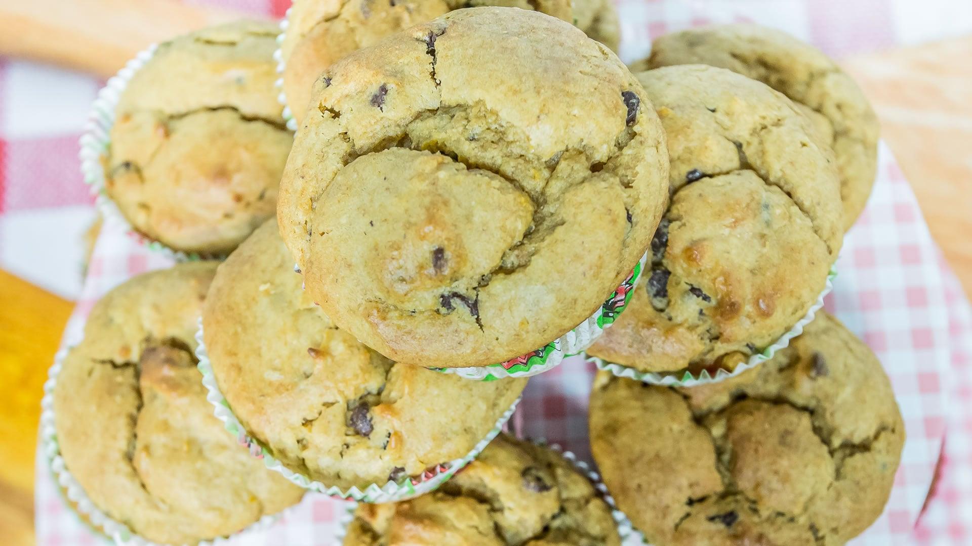 Foto Muffin alle Patate Dolci con Gocce di Cioccolato
