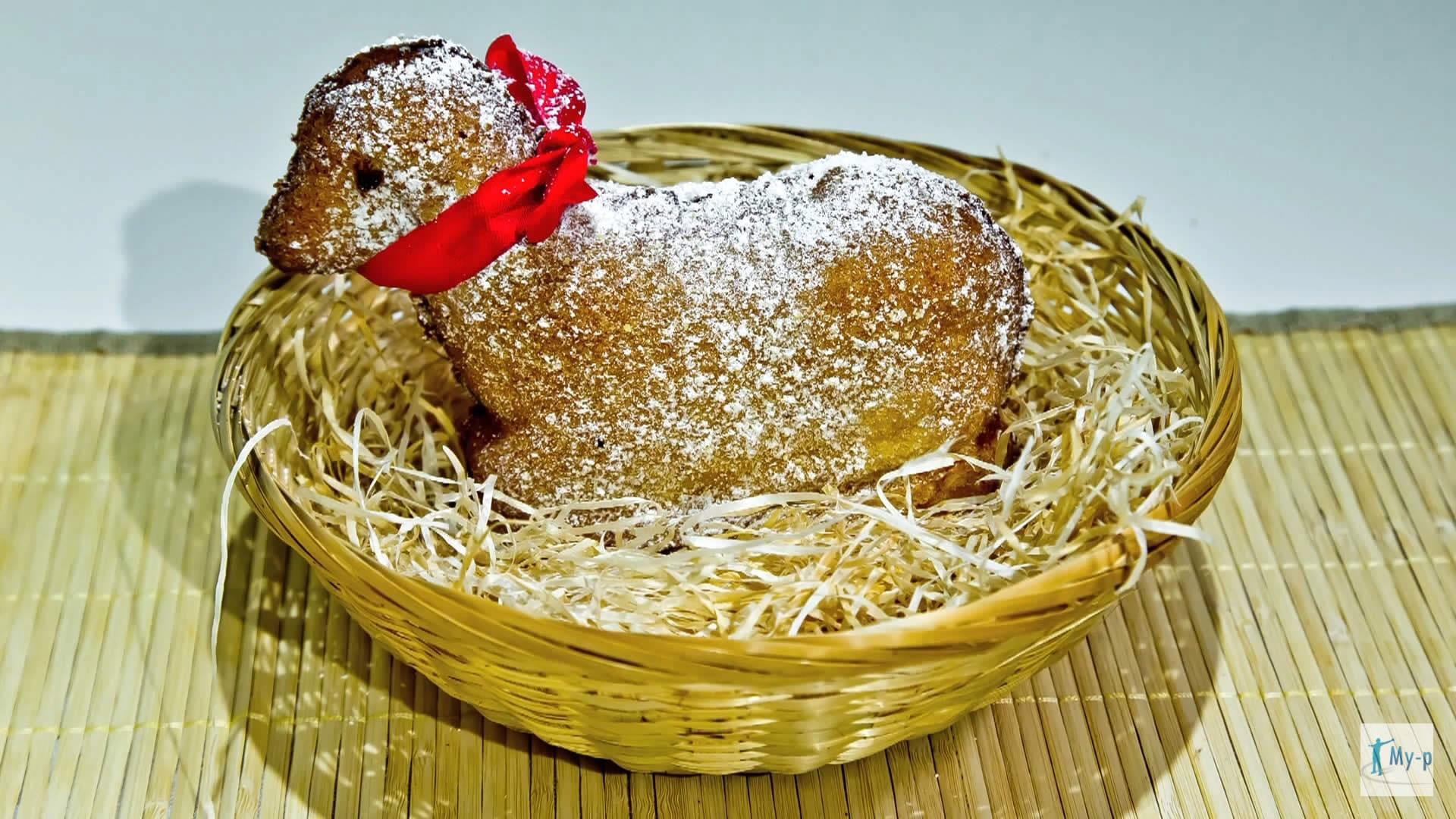 Foto Agnello dolce e rottura dell'uovo di cioccolato