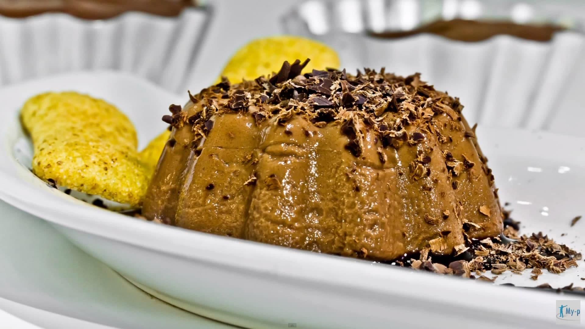 Foto Budino al cioccolato fondente senza glutine e senza zuccheri aggiunti