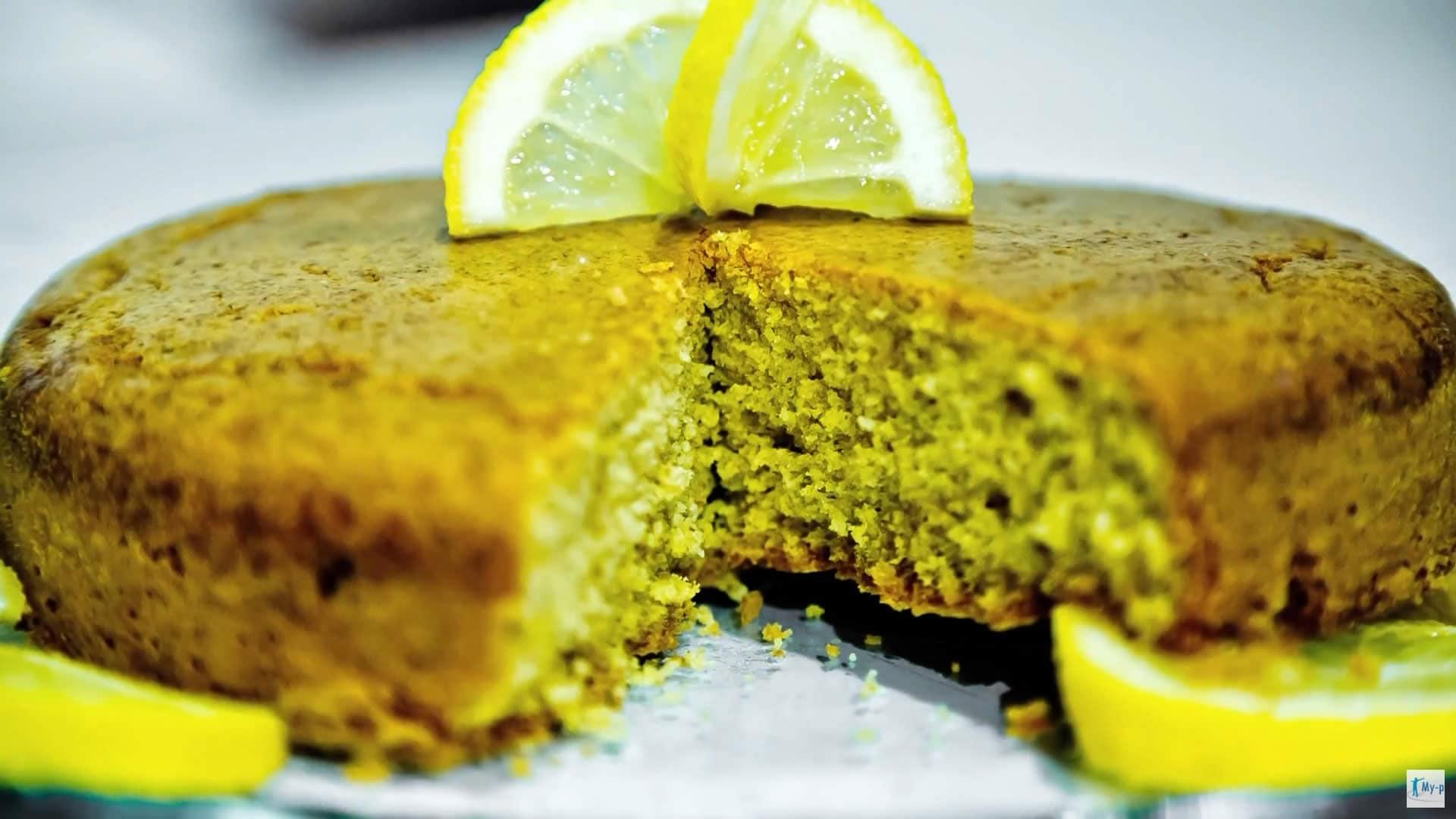 Foto Torta integrale al limone - torta per diabetici con stevia
