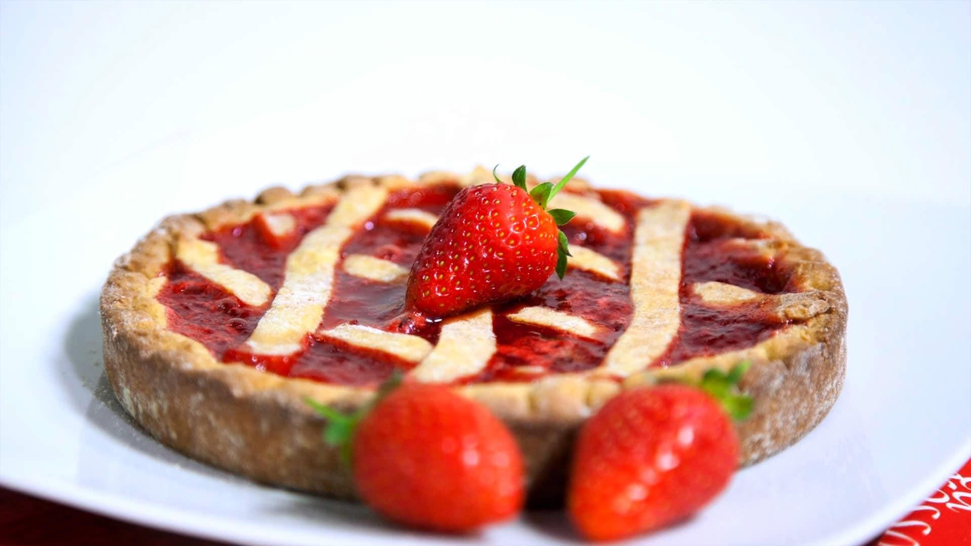 Foto Crostata alle fragole per diabetici - Crostata light senza burro e senza saccarosio