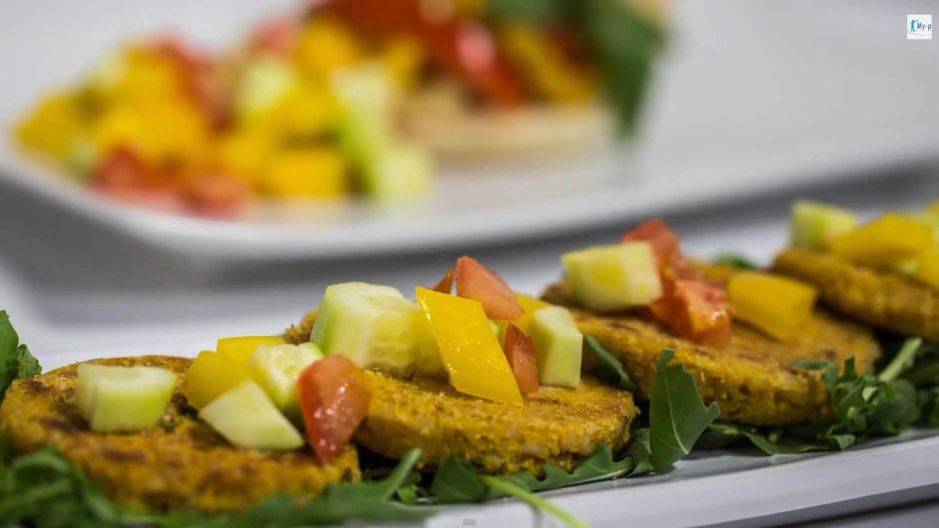 Foto Hamburger di Soia e Riso – Vegan-Burger