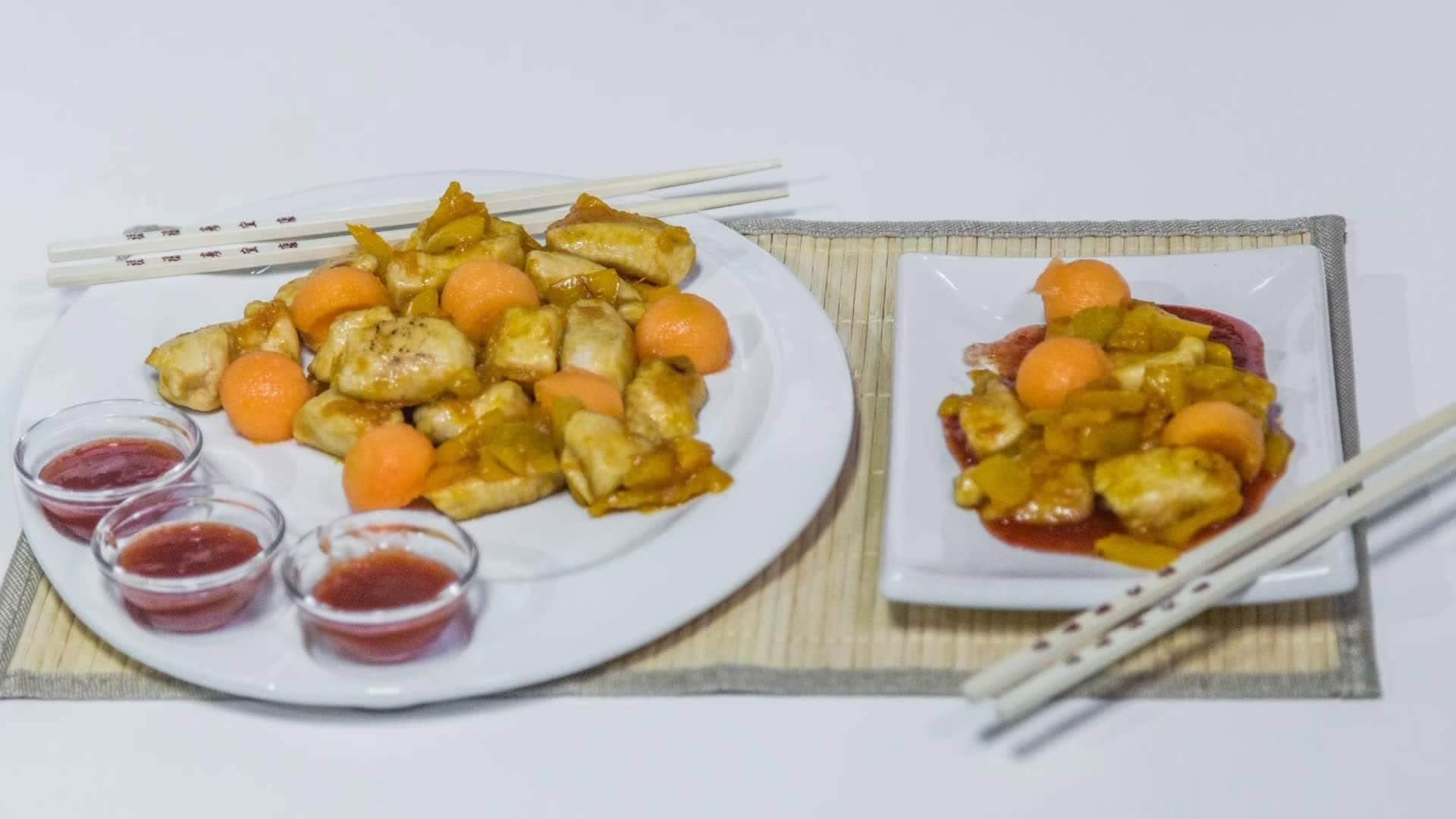 Foto Pollo e Melone in Salsa Agrodolce