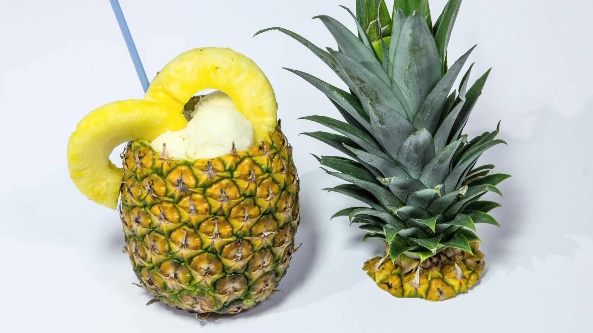 Foto Sorbetto di Ananas analcolico
