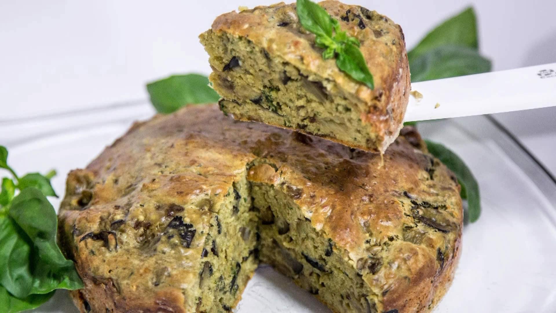 Foto Torta Salata con Melanzane e Pesto Genovese