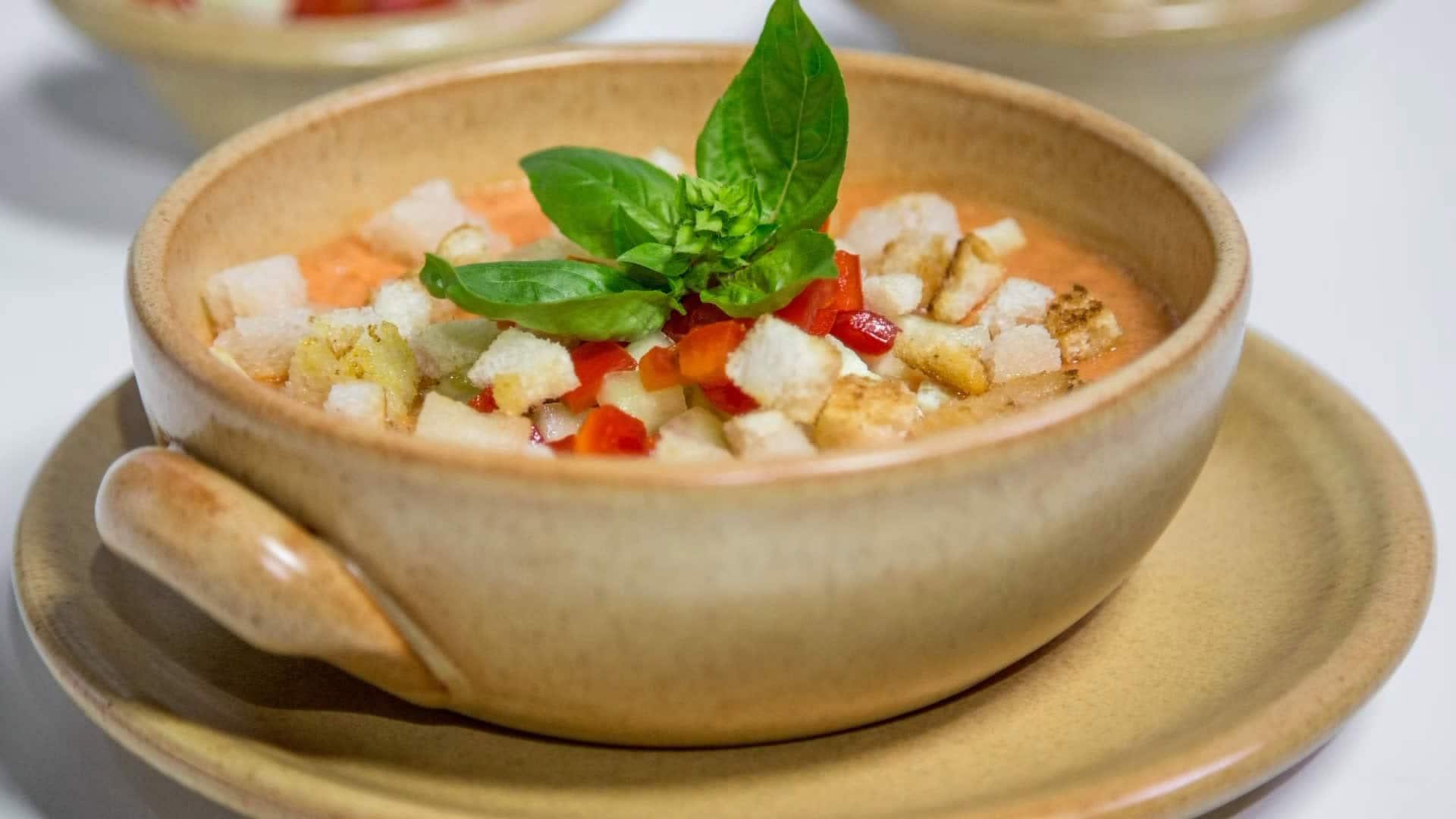 Foto Gazpacho con Pomodori, Peperoni e Cetrioli