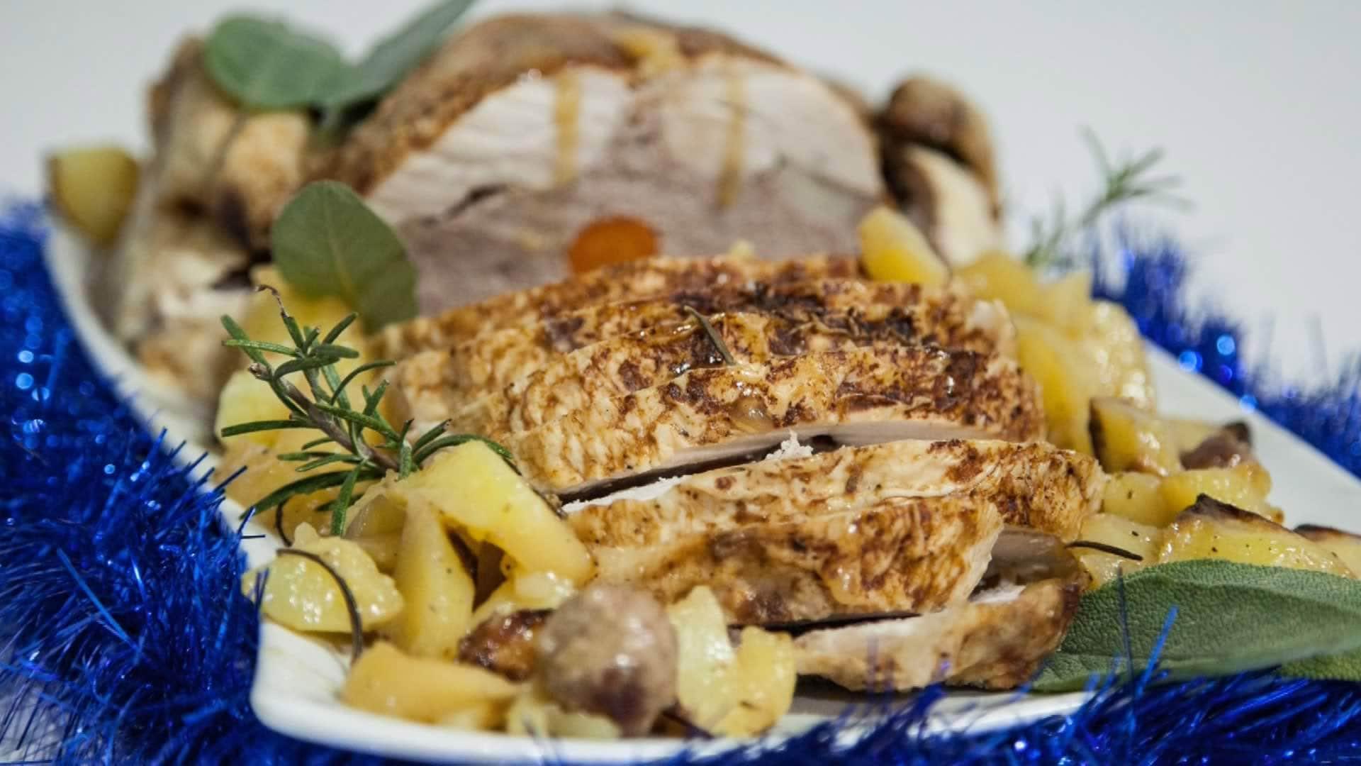 Foto Pollo Ripieno al Forno con Patate - Senza Grassi Aggiunti
