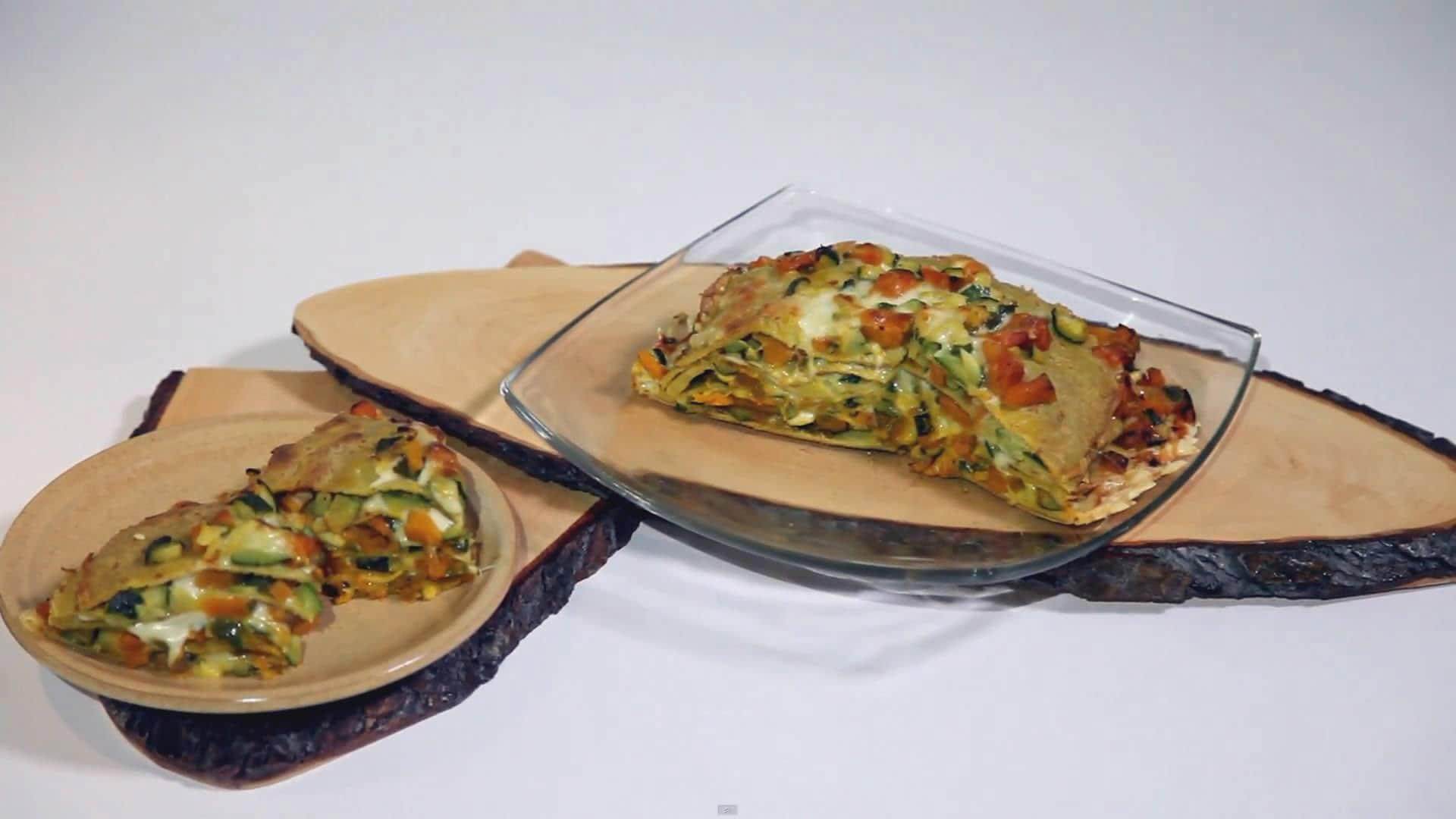 Foto Pasticcio vegetariano di crepes integrali