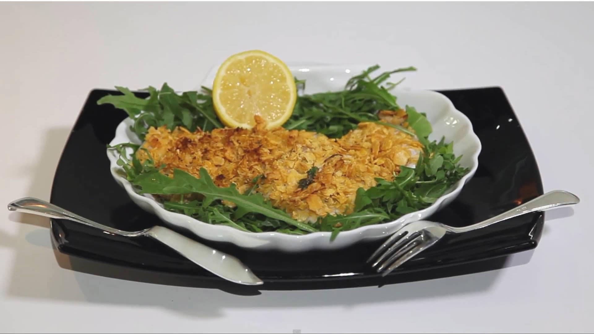 Foto Pesce croccante al forno