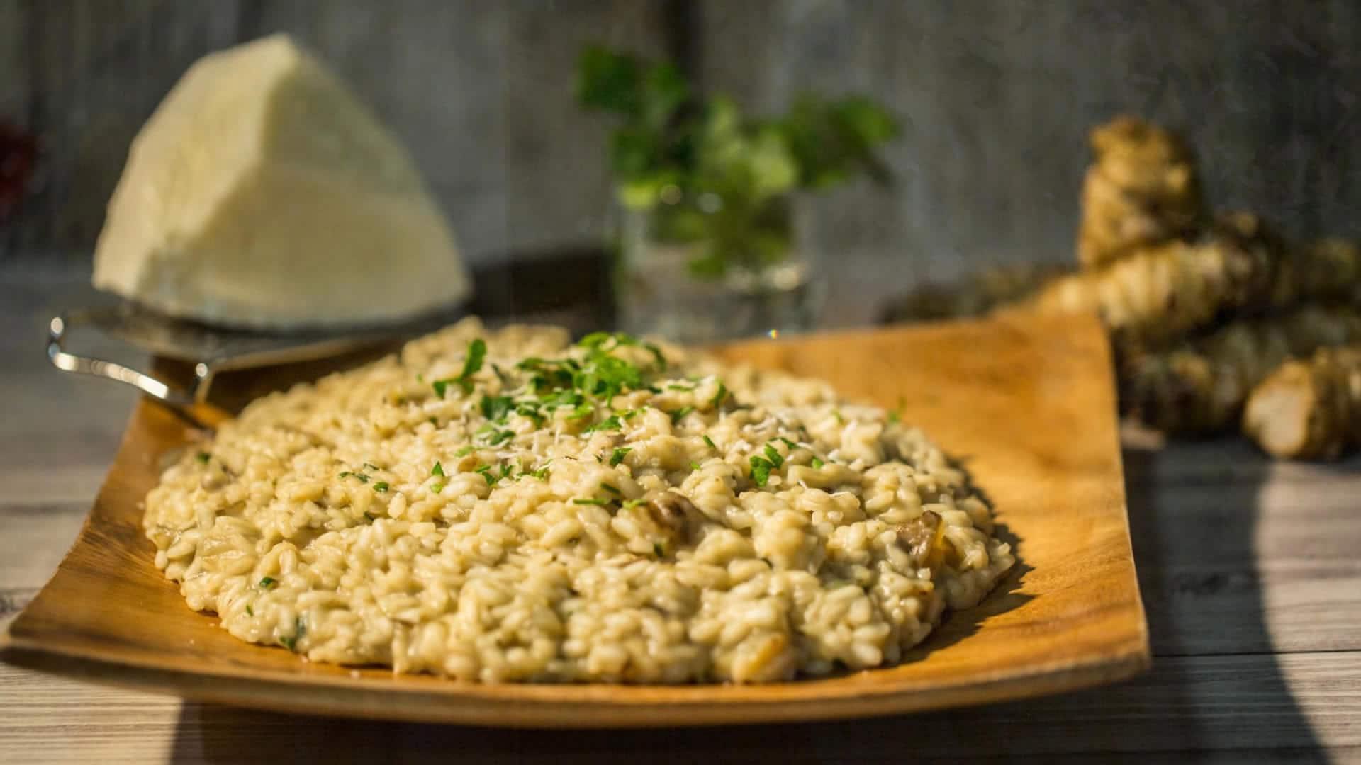 Risotto con topinambur for Risotto ricette