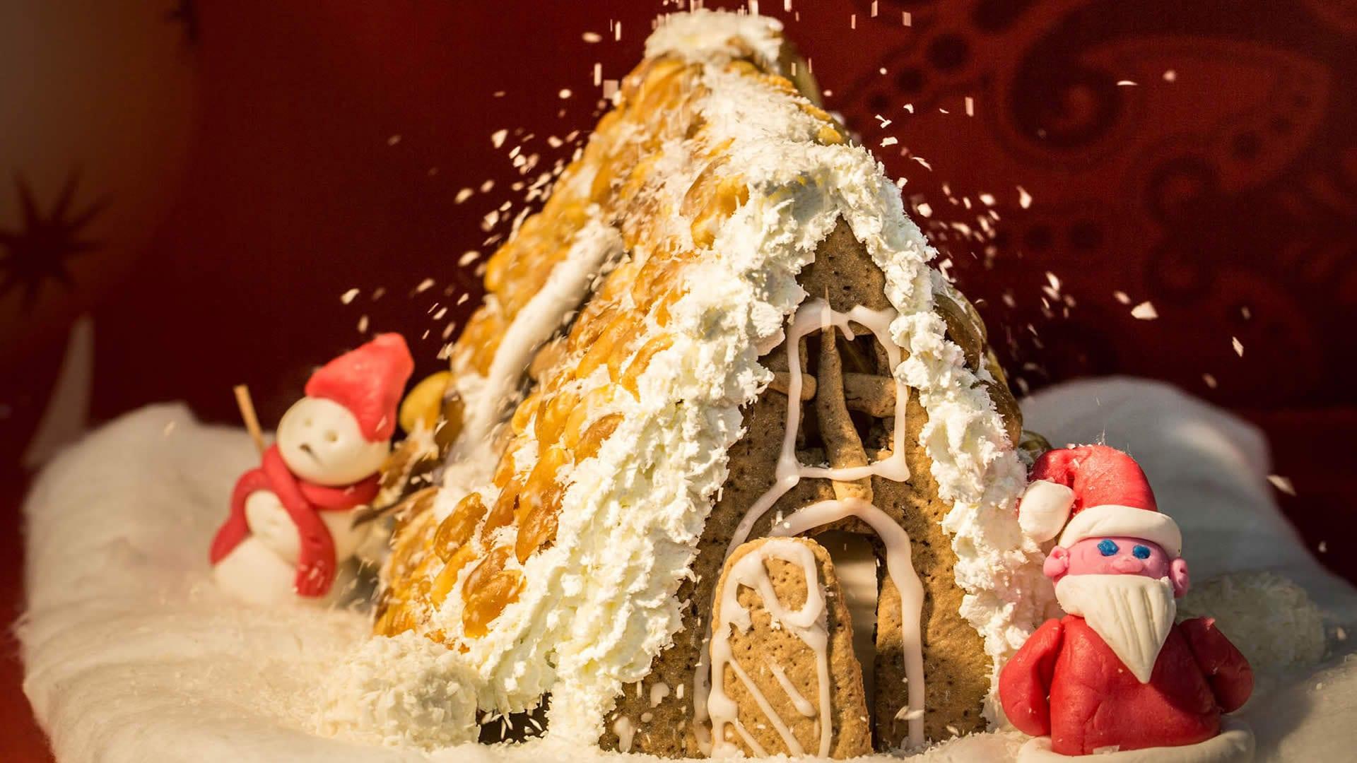 Decorazioni Natalizie X Dolci.Casetta Dolce Di Natale
