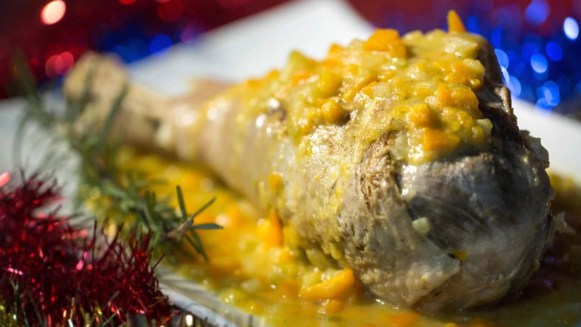Foto Arrosto di Tacchino con Verdure – Ricetta di Natale