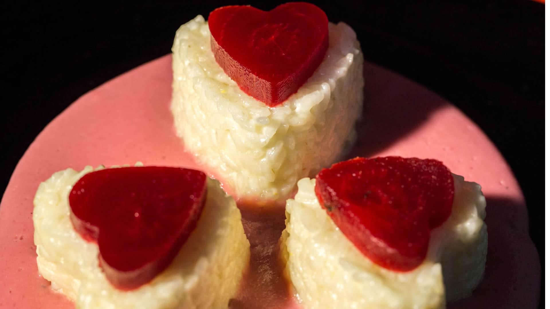 Foto Timballi di Riso al Formaggio - Cuori di Riso per San Valentino