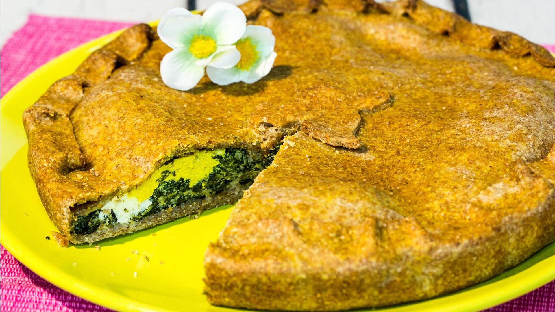 Foto Erbazzone Vegan - Torta Salata con Spinaci per Pasqua