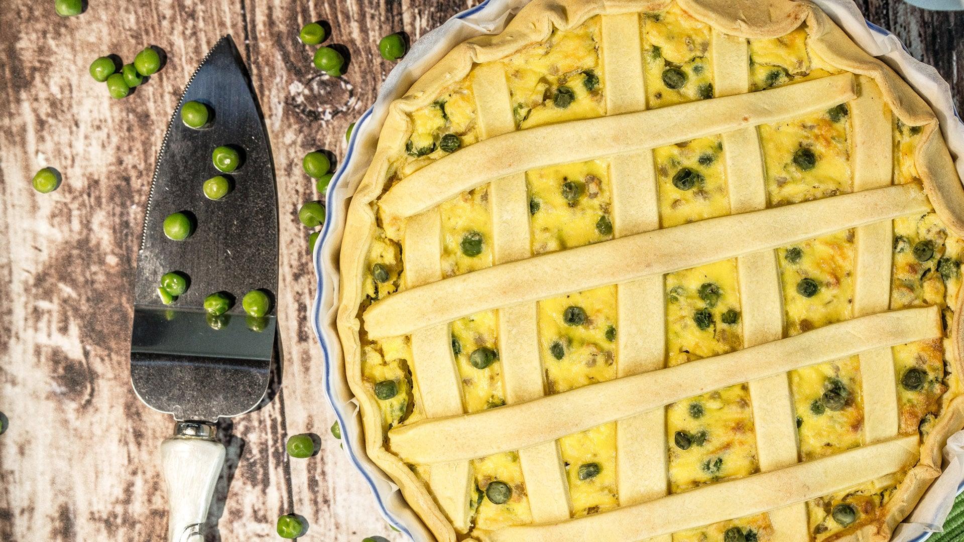 Foto Pastiera Salata - Torta Salata con Piselli