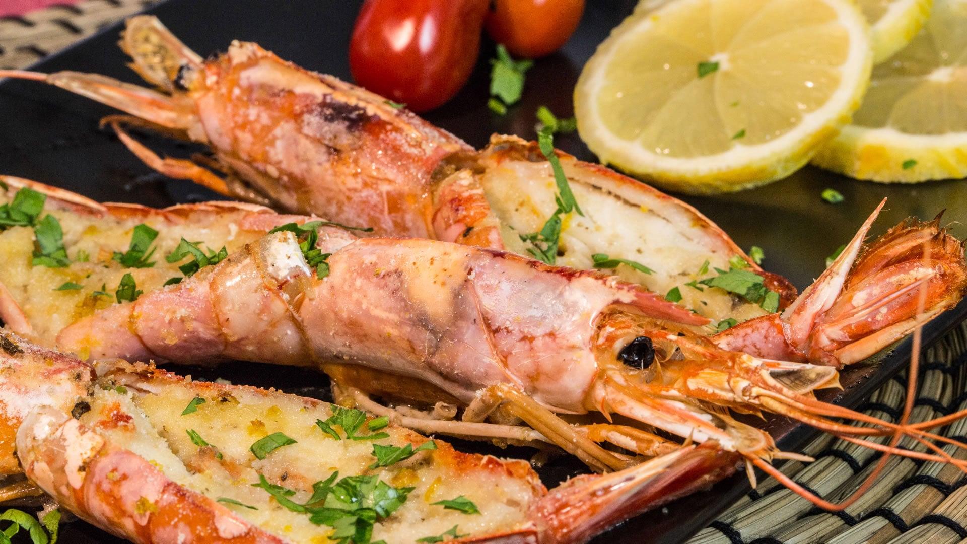 Gamberoni gratinati al forno for Cuocere v cucinare