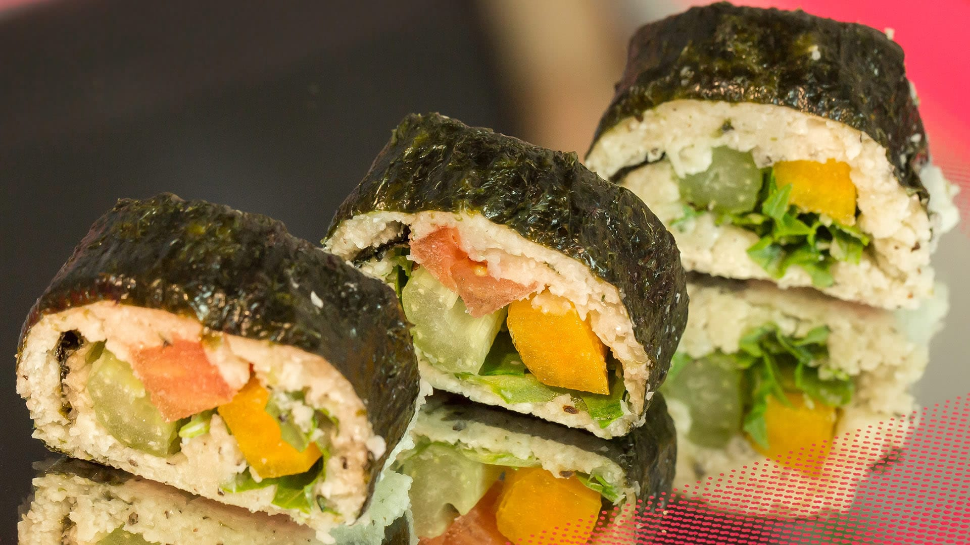 Foto Futomaki-Sushi Crudista Vegano