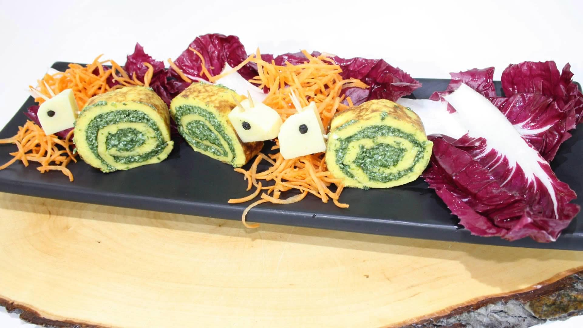 Foto Lumachine di spinaci e ricotta - involtini o girelle con frittatina