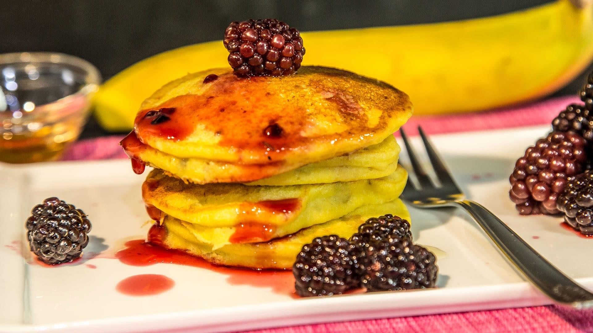 Foto Pancake alla Banana Senza Burro e Senza Glutine