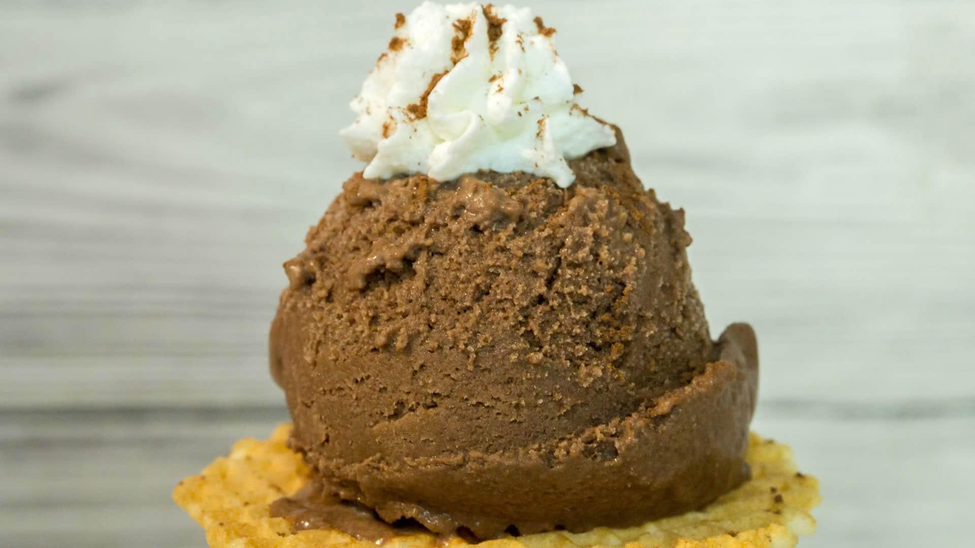 Foto Gelato al Cioccolato Senza Uova